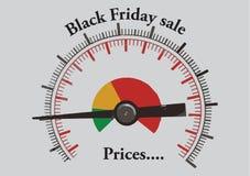 Misura di Black Friday illustrazione di stock