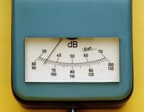 Misura di decibel fotografia stock