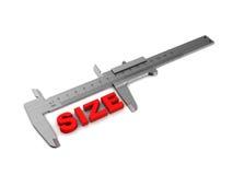 Misura di dimensione Fotografie Stock