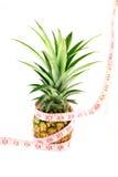 Misura di nastro dell'ananas isolata Fotografia Stock Libera da Diritti