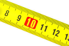 Misura di nastro nei centimetri Immagini Stock
