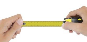 Misura di nastro senza numero o spazio in bianco Fotografia Stock Libera da Diritti