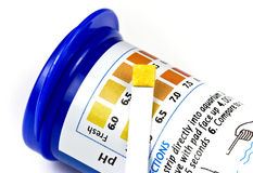 Misura di pH dell'acquario Fotografia Stock