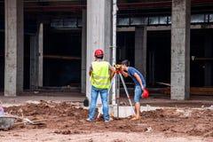Misura e controllo in loco della costruzione di edifici di Wanzhou Fotografia Stock Libera da Diritti