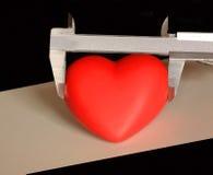 Misurando il cuore, se il suo possibile? Immagine Stock Libera da Diritti