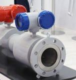 Misuratore di portata ultrasonico per naturale, il processo ed il gas domestico fotografia stock