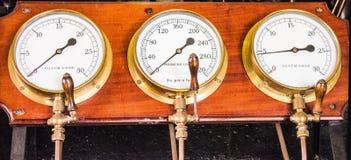 Misuratori di pressione del vapore Fotografia Stock
