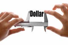 Misurazione del dollaro Fotografia Stock Libera da Diritti