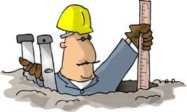 Misurazione del foro illustrazione vettoriale