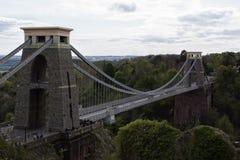 Misurazione di Clifton Suspension Bridge Fotografia Stock Libera da Diritti