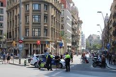 Misure di alta sicurezza Barcellona Immagini Stock Libere da Diritti