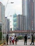 Misure di alta sicurezza per il carnevale del Panama Immagini Stock Libere da Diritti