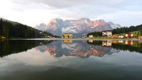 misurina озера Италии стоковые фотографии rf