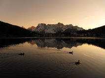 Misurina lake Stock Images