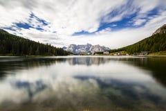 Misurina lake Fotografering för Bildbyråer