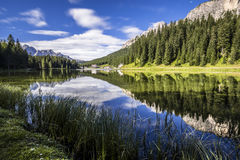 Misurina lake Royaltyfri Bild