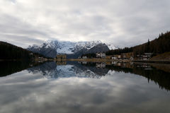 Misurina lake Arkivbilder
