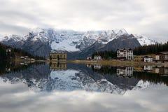 Misurina lake Arkivbild