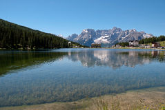 Misurina lake in the alps mountains Stock Photography