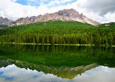 Misurina lake in Dolomites mountain. Stock Images