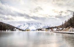 Misurina Lake frozen Stock Photos