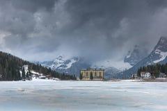 Misurina lake in the Italian Alps, Italy. Misurina lake in the Italian Alps stock images
