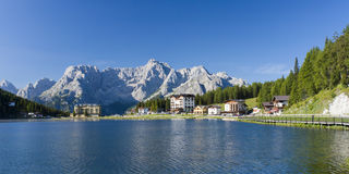 Misurina lake landscape Stock Image