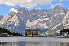 Misurina lake Royalty Free Stock Image