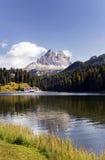 Misurina See und Tre Cime di Lavaredo Stockfotografie