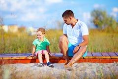 Misverstanden tussen vader en zoon royalty-vrije stock foto
