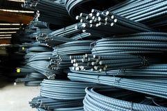Misvormde staalstaven royalty-vrije stock foto