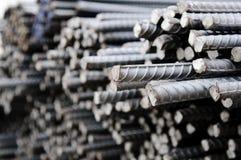 Misvormde staalstaven royalty-vrije stock fotografie