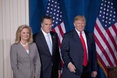 Mitón y Ann Romney y Donald Trump imagen de archivo libre de regalías