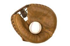 Mitón y bola del colector de la vendimia Foto de archivo libre de regalías