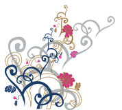 Mit Blumen Vektor Abbildung
