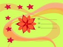 Mit Blumen Lizenzfreie Stockfotos