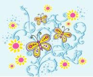 Mit Blumen Stockbild