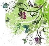 Mit Blumen und Basisrecheneinheiten Stockbilder