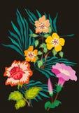 Mit Blumen  Vektorentwurf Stockbild