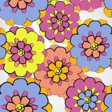 Mit Blumennahtloses Stockbild