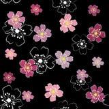 Mit Blumennahtloses Lizenzfreie Stockfotografie