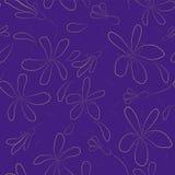 Mit Blumennahtloses Stock Abbildung