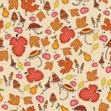 Mit Blumennahtloses der netten Herbstdanksagung Lizenzfreie Stockbilder