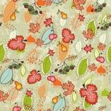 Mit Blumennahtloses der netten Herbstdanksagung Stockfoto