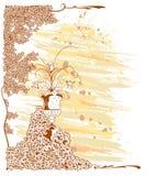 Mit BlumenRetro- Lizenzfreie Stockbilder