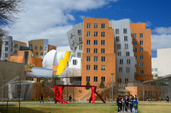 MIT Campus. Ray and Maria Stata Center on the campus of MIT in Boston, MA. The academic complex was designed by Pritzker Prize-winning architect Frank Gehry