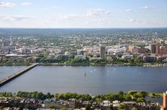 MIT campus on Charles River bank, Boston Stock Image