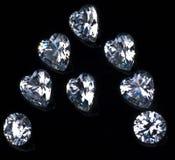 A mit Diamanten Lizenzfreies Stockbild