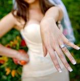 Mit diesem Ring? Stockfoto