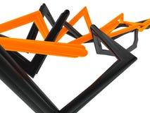 Mit einem Band versehener abstrakter Hintergrund der Rohre vektor abbildung